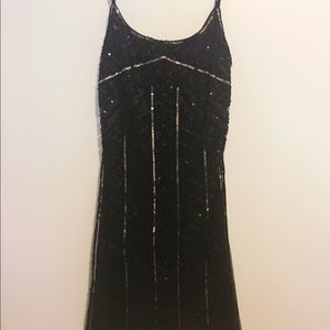 6a2d92da68038 Dresses & Skirts - Black and Silver Beaded Party Dress